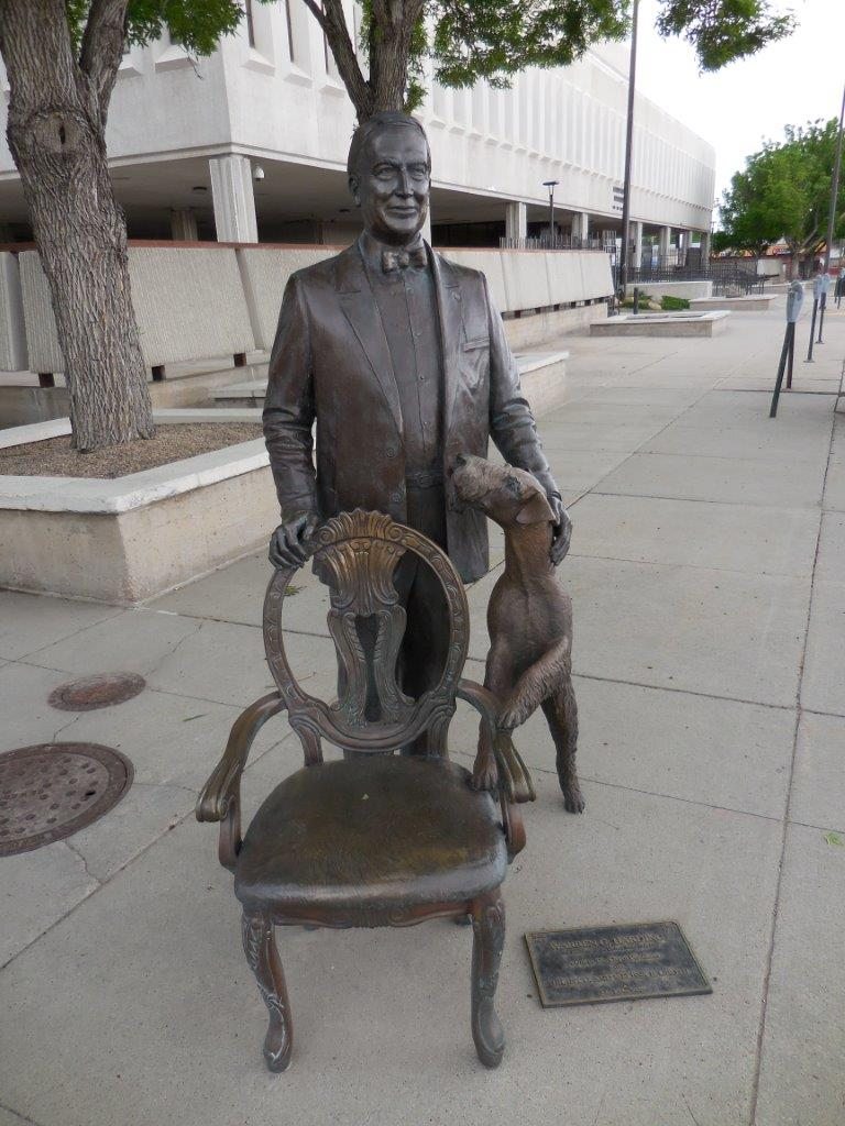Warren Harding statue in Rapid City, South Dakota