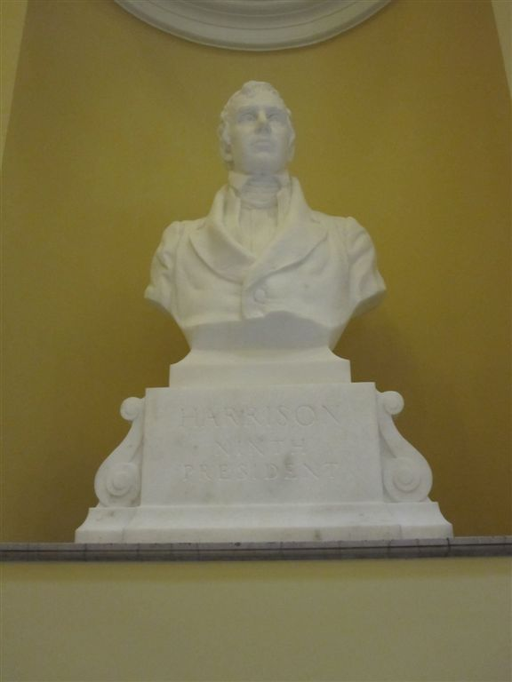 Harrison Bust at the Virginia State Capitol