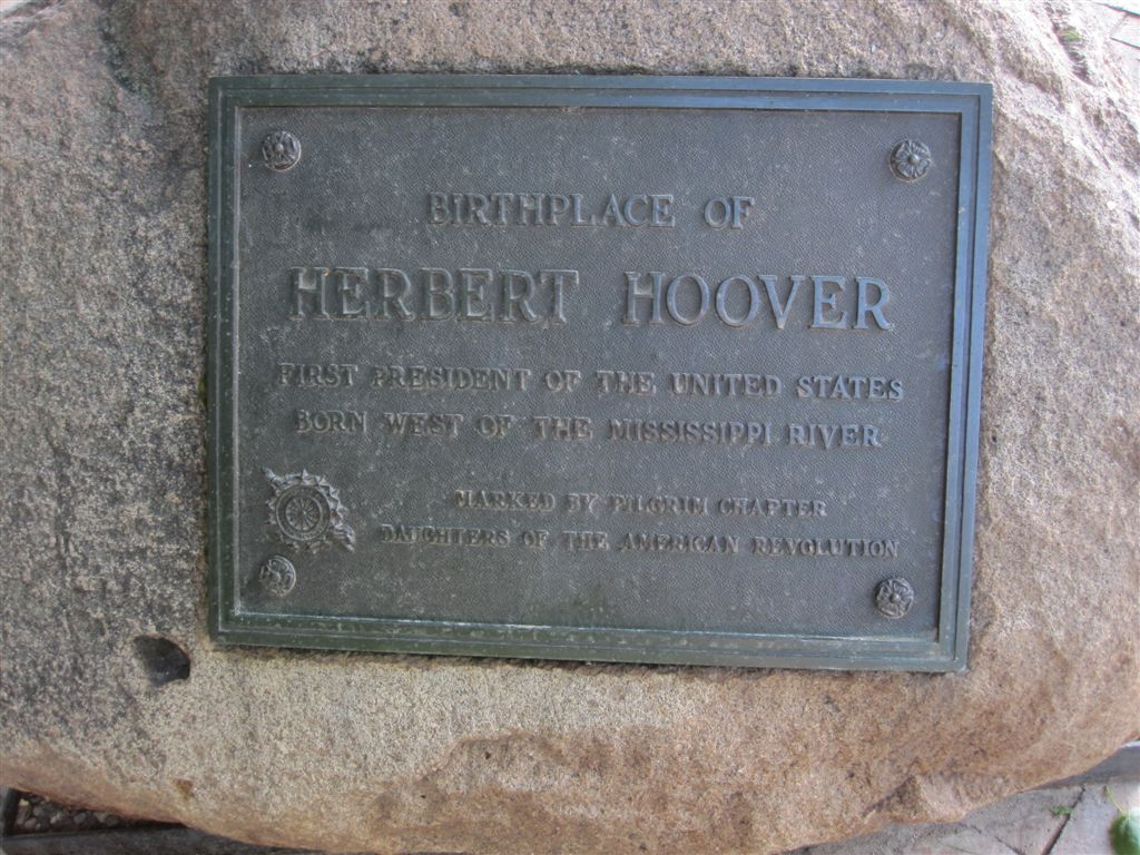 Herbert Hoover birthplace historical marker