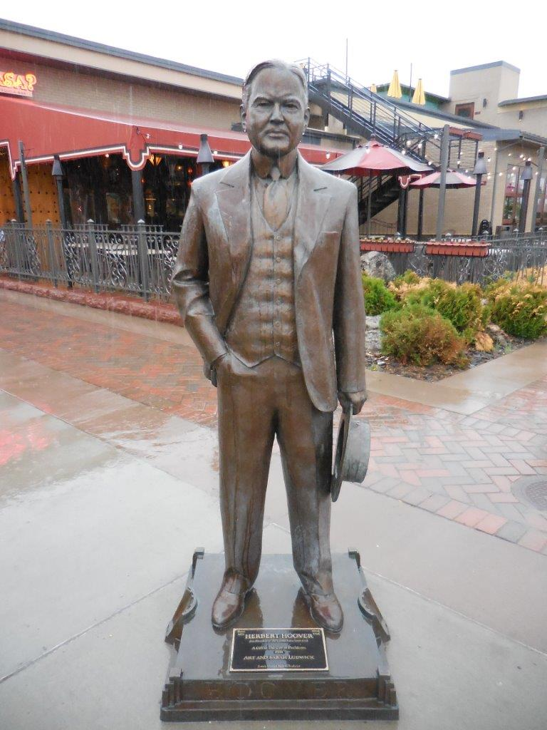 Herbert Hoover statue in Rapid City, South Dakota