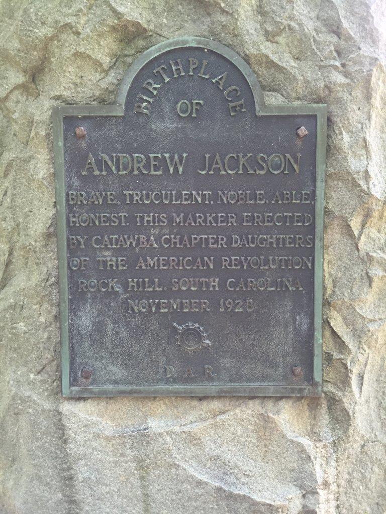 Andrew Jackson birthplace - Waxhaws Region of North and South Carolina