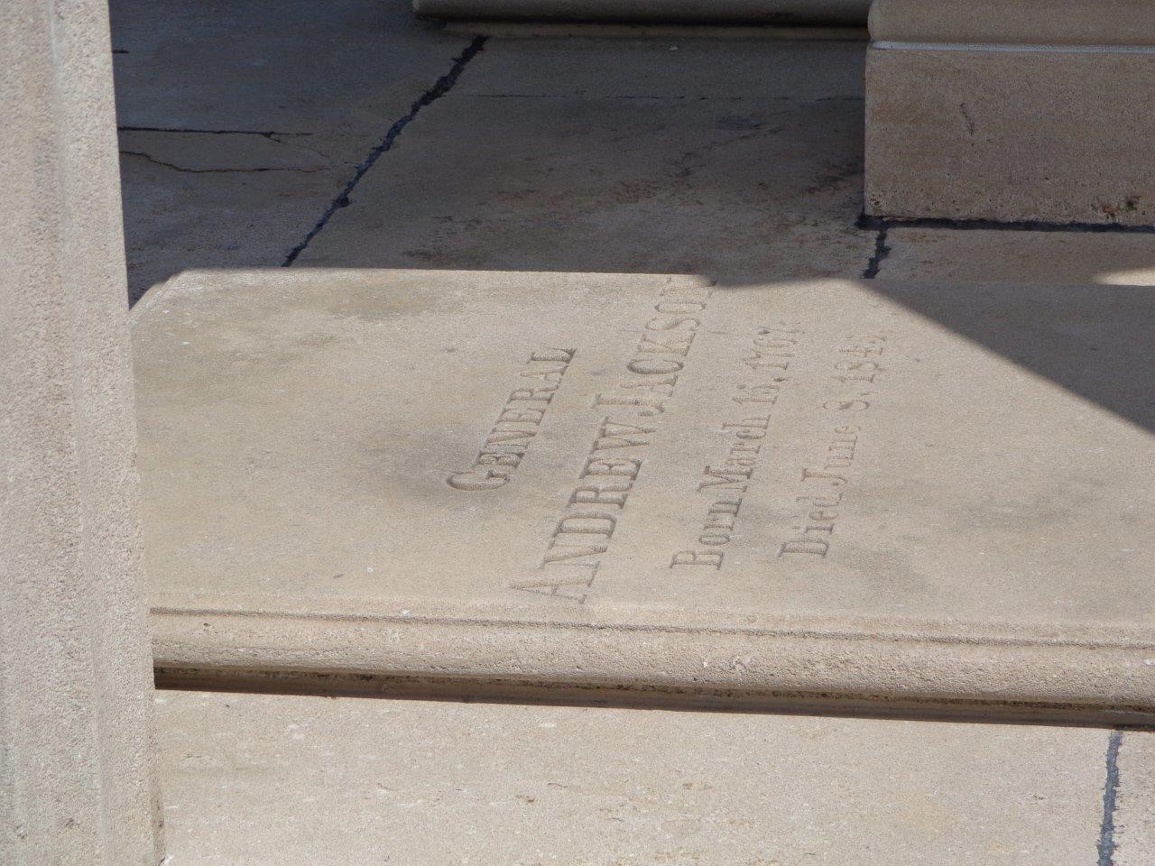Andrew Jackson grave stone