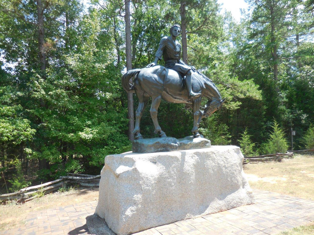 Andrew Jackson statue at Andrew Jackson State Park in Lancaster County, South Carolina