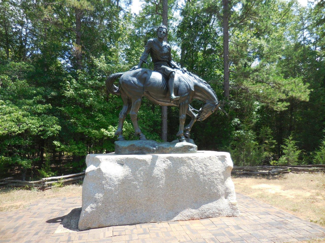 Andrew Jackson equestrian statue at Andrew Jackson State Park in Lancaster County, South Carolina