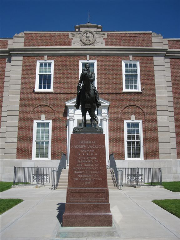 Andrew Jackson statue in Independence, Missouri