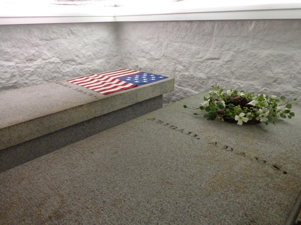 John Adams gravestone