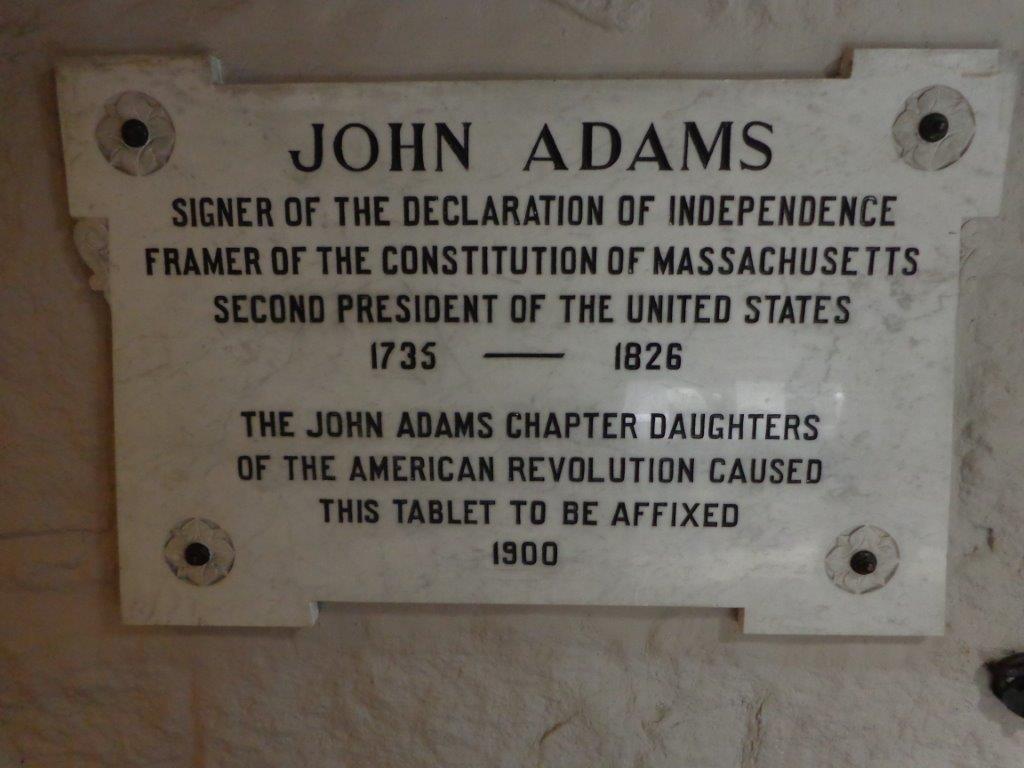 John Adams grave marker