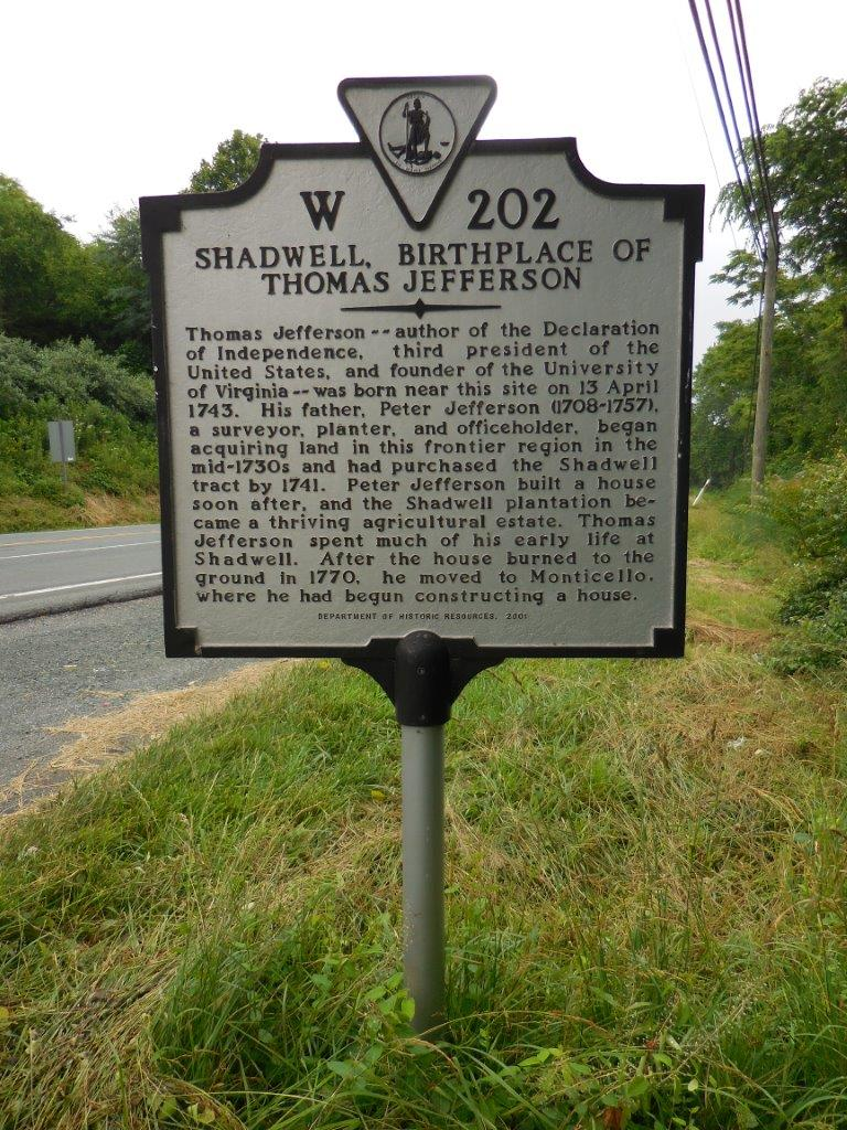photo of Thomas Jefferson's birthplace