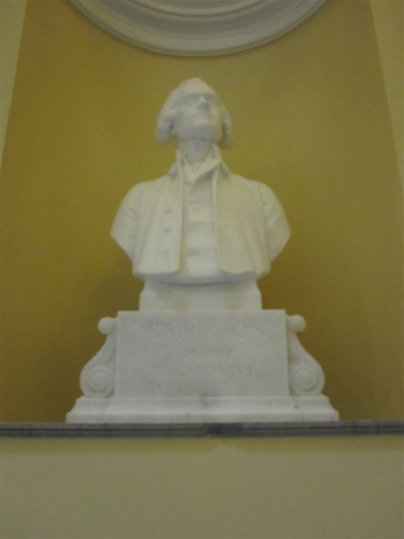 Jefferson Bust at the Virginia State Capitol