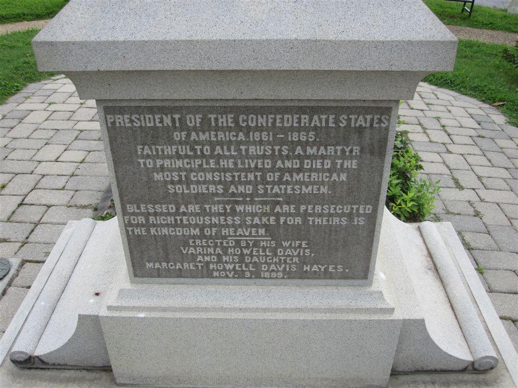 Jefferson Davis grave stone