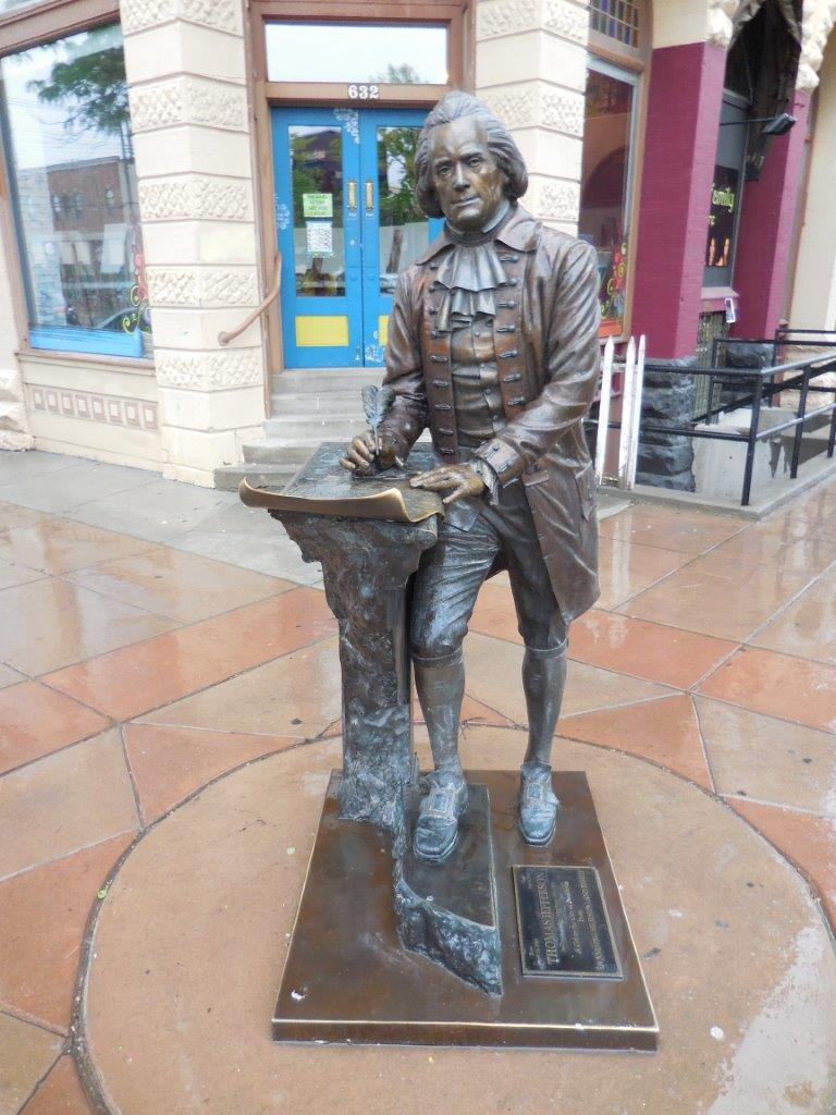 Thomas Jefferson statue in Rapid City, South Dakota