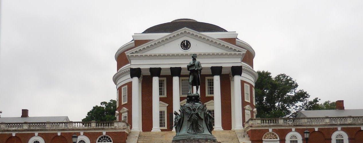Thomas Jefferson statue at University of Virginia
