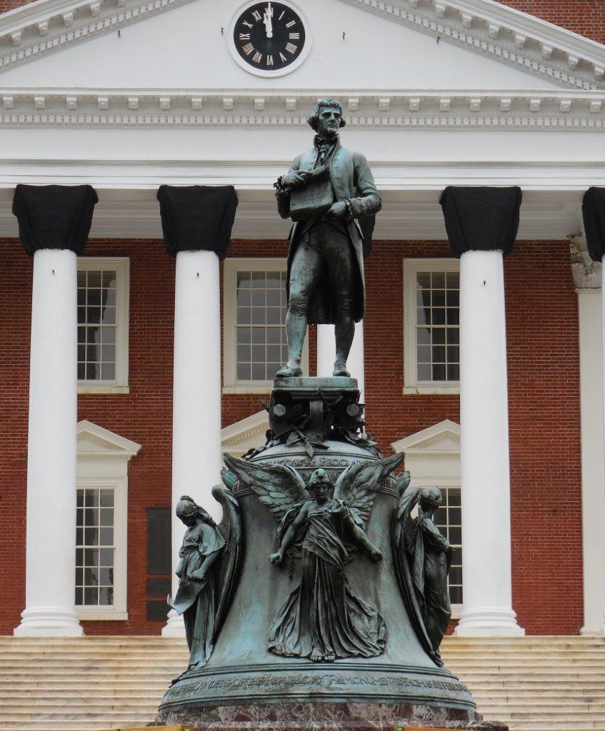 Thomas Jefferson statue at UVA