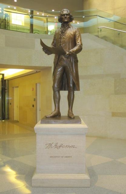 Thomas Jefferson statue inside Virginia Capitol