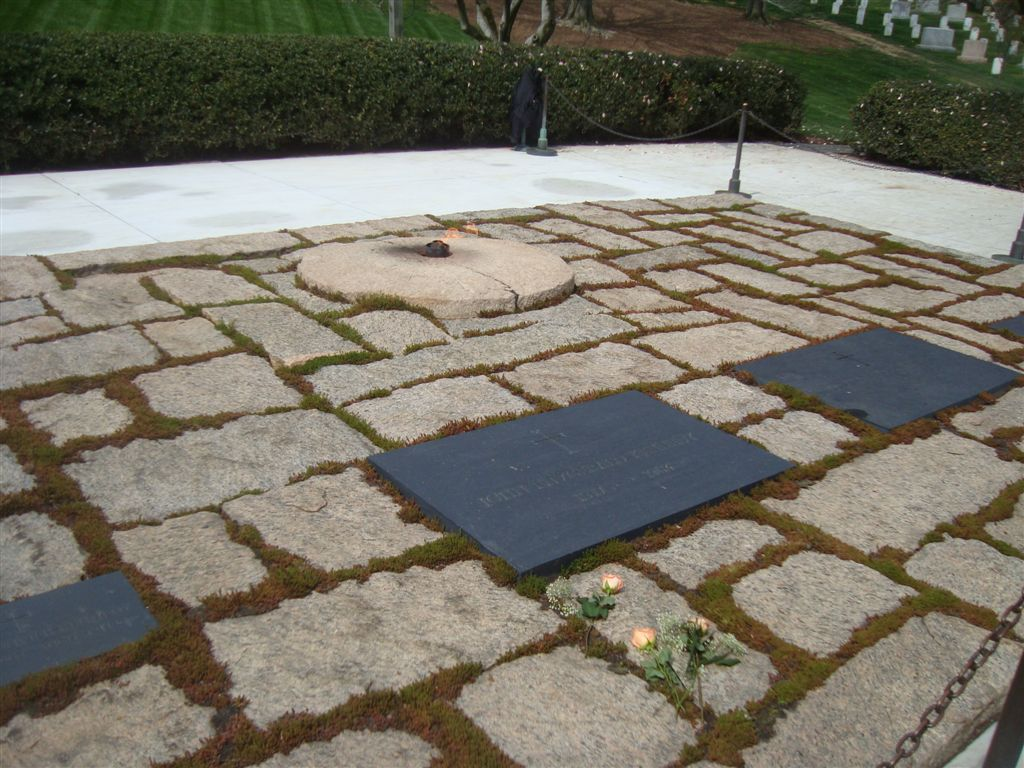 John F. Kennedy gravesite and eternal flame