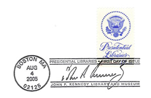 Kennedy Library Stamp