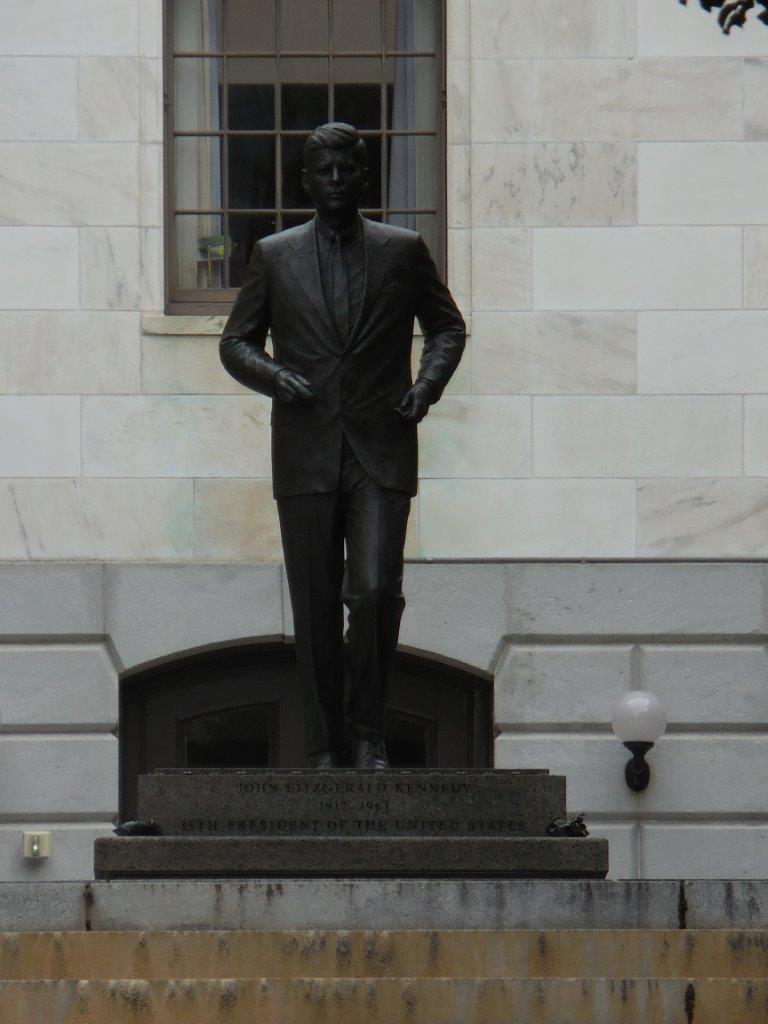 John F. Kennedy statue at Massachusetts State House