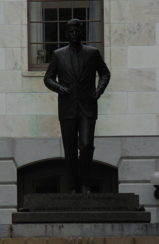 John F. Kennedy statue at Massachusetts Capitol Building in Boston