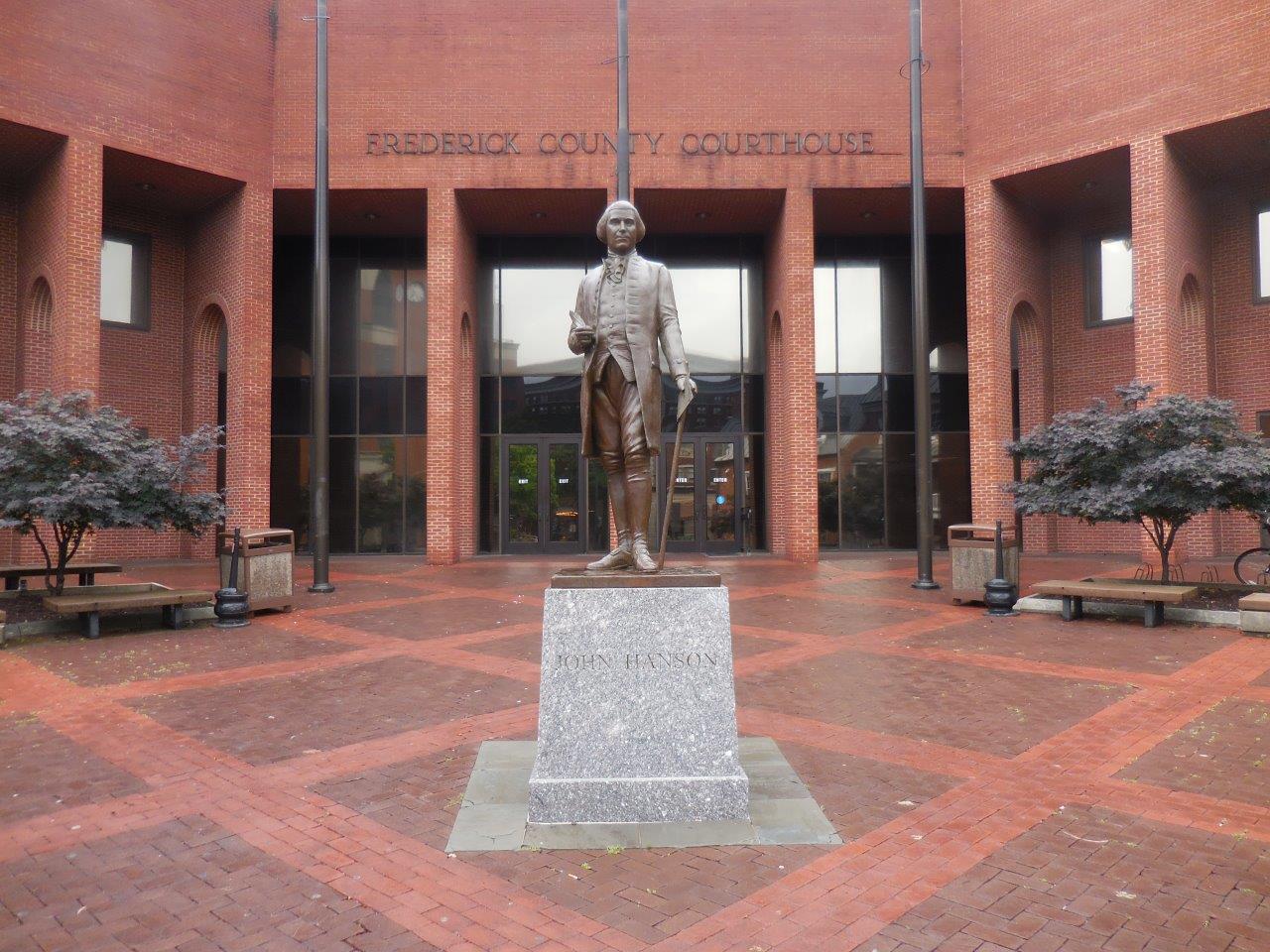 John Hanson memorial in Frederick, Maryland