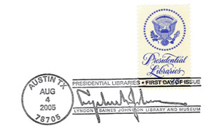 Lyndon Johnson Library Stamp