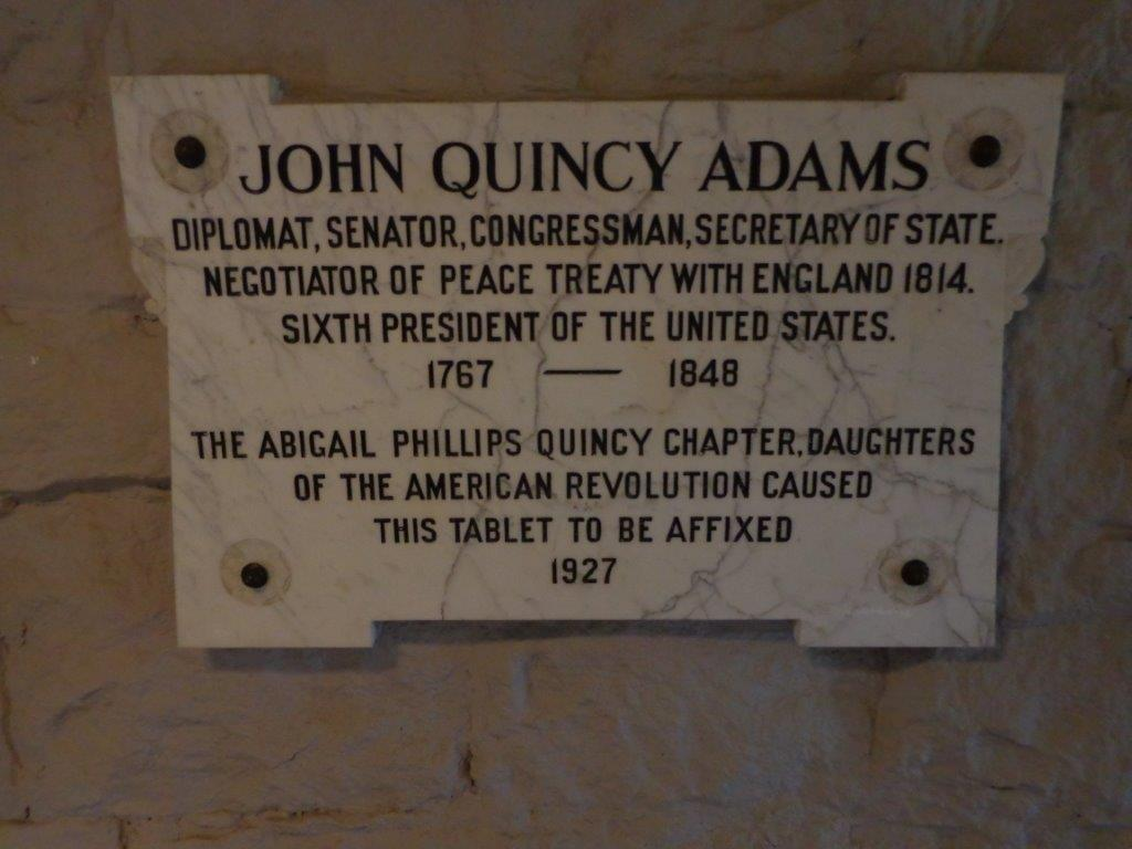 John Quincy Adams grave marker