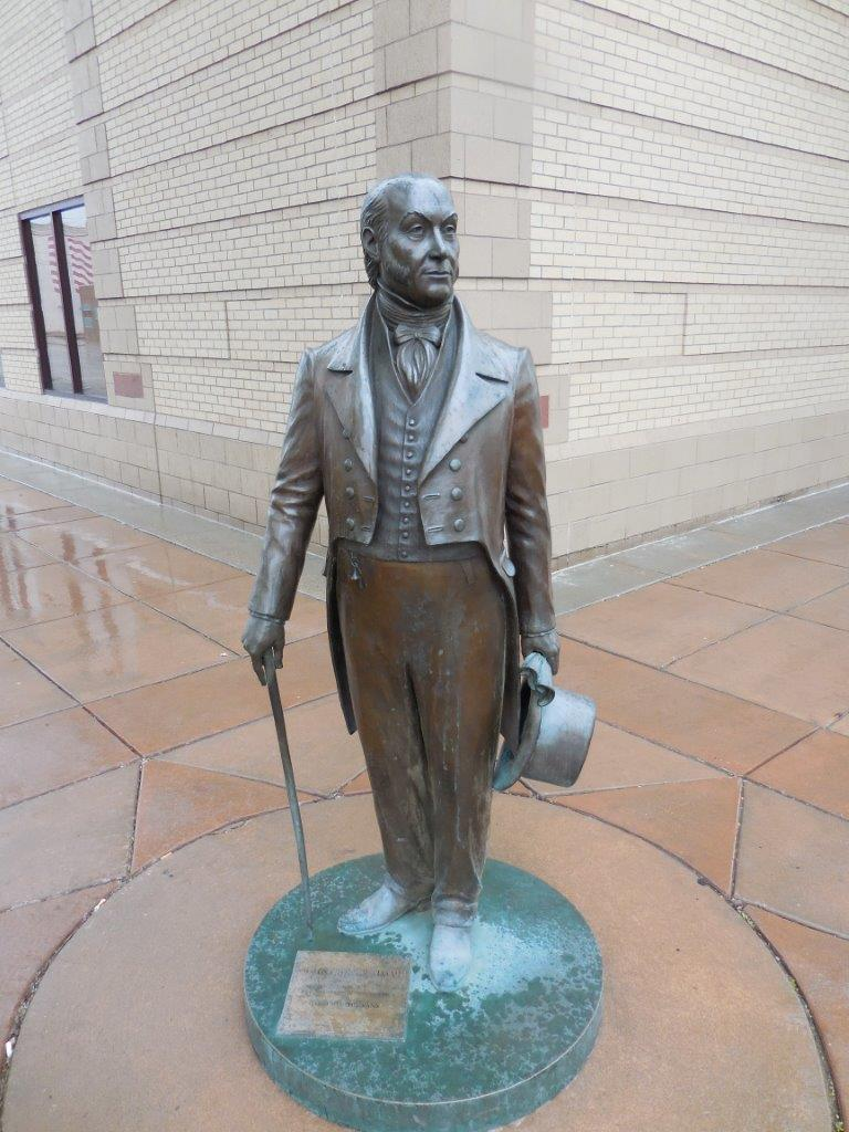 John Quincy Adams statue in Rapid City, South Dakota