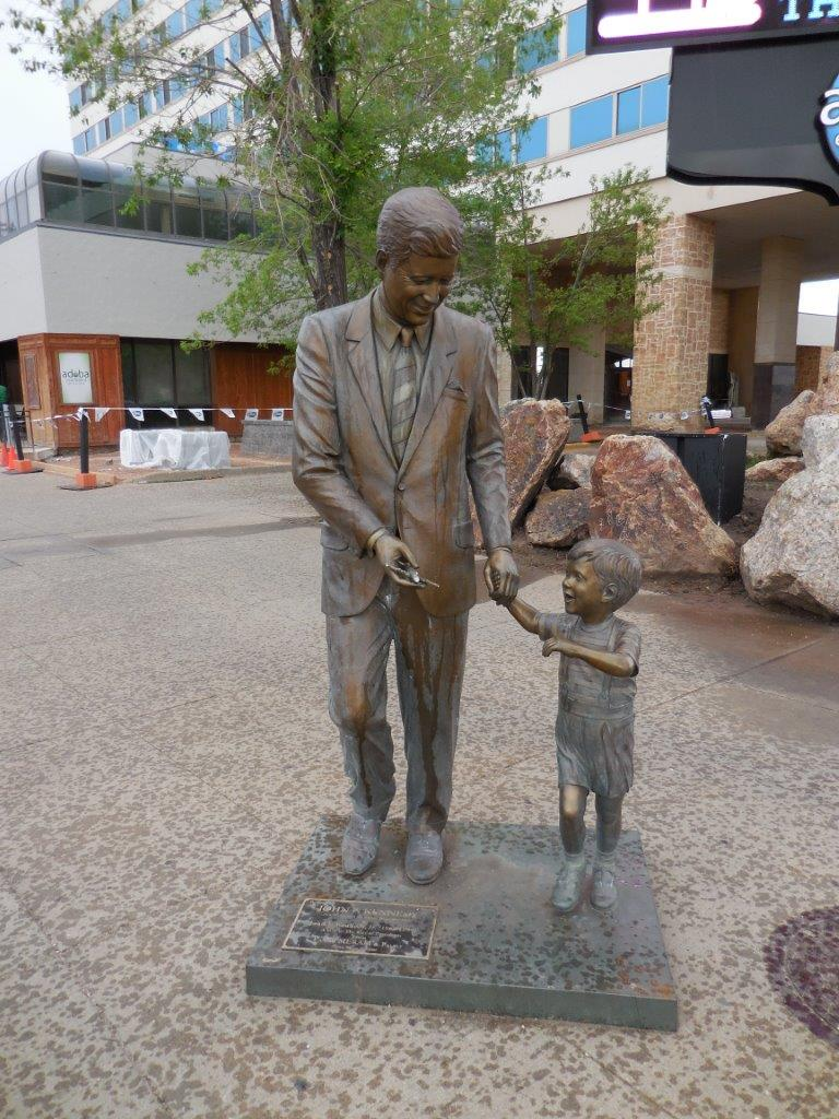 John F. Kennedy statue in Rapid City, South Dakota