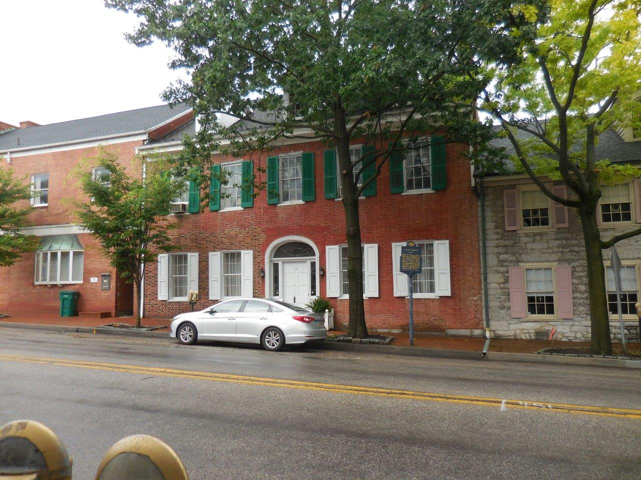 Harriet Lane birthplace in Mercersburg, Pennsylvania