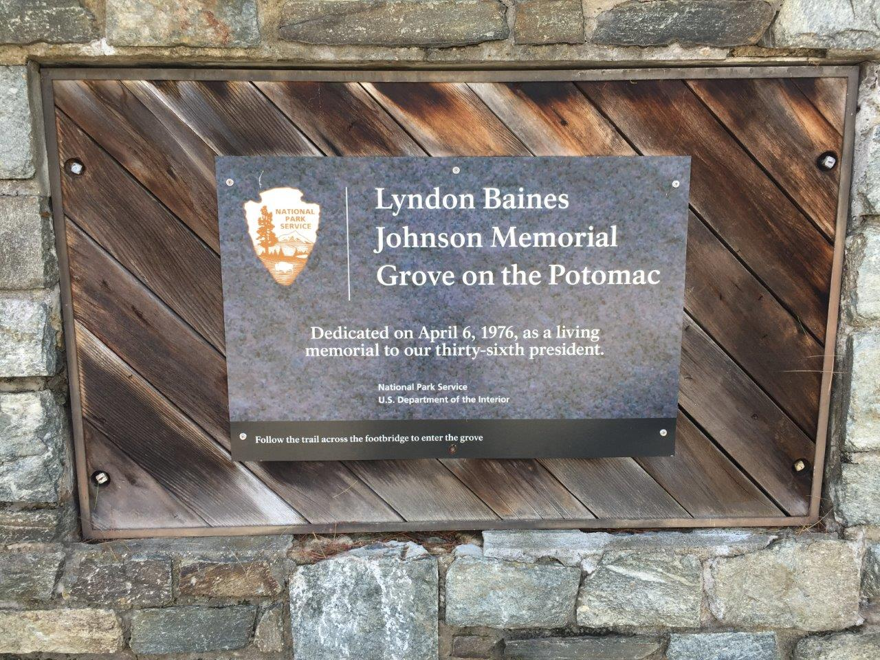 Lyndon Johnson memorial grove
