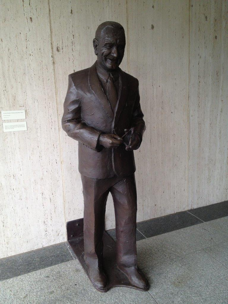Lyndon Johnson statue at LBJ library