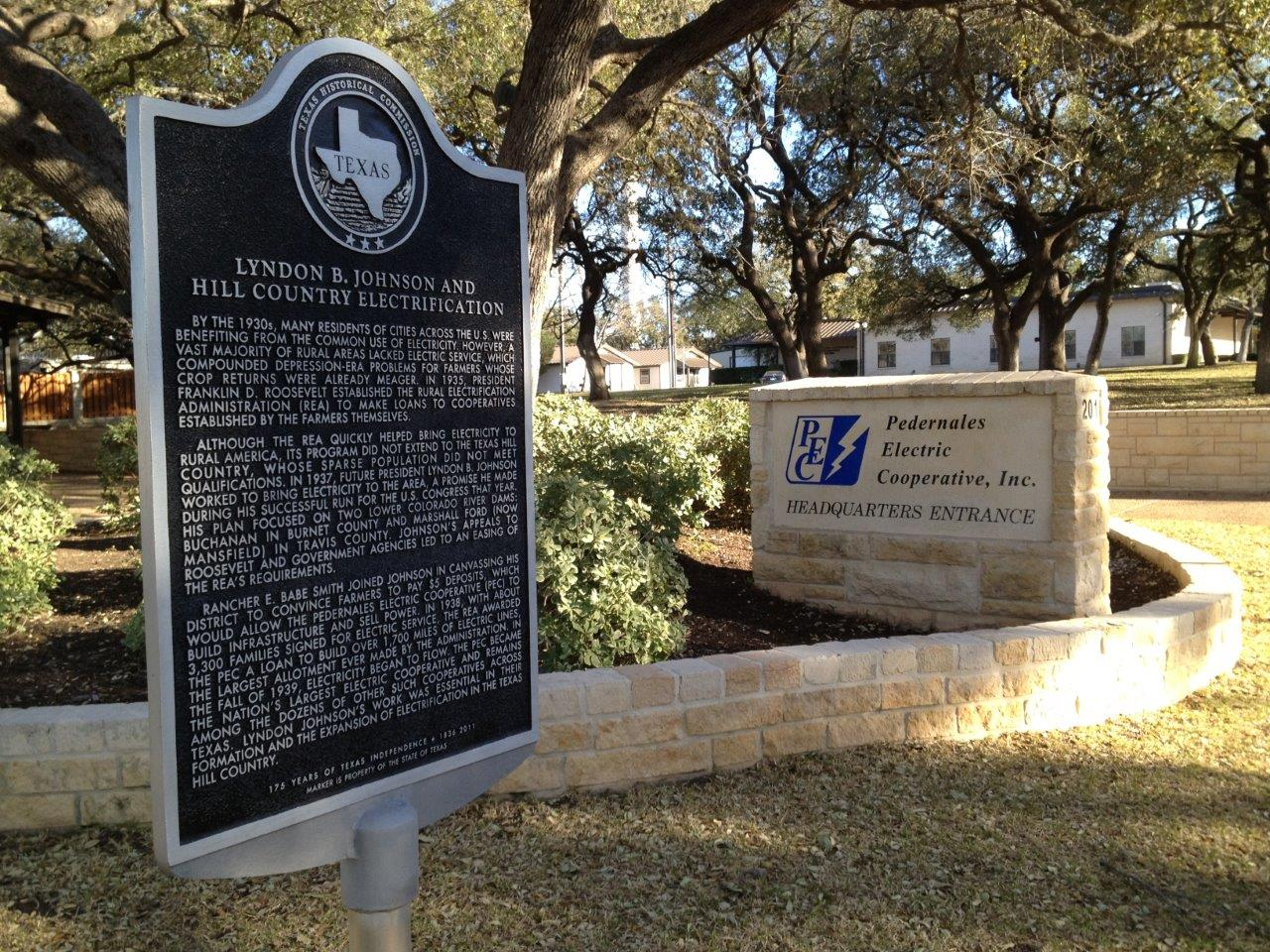 lyndon johnson historical marker