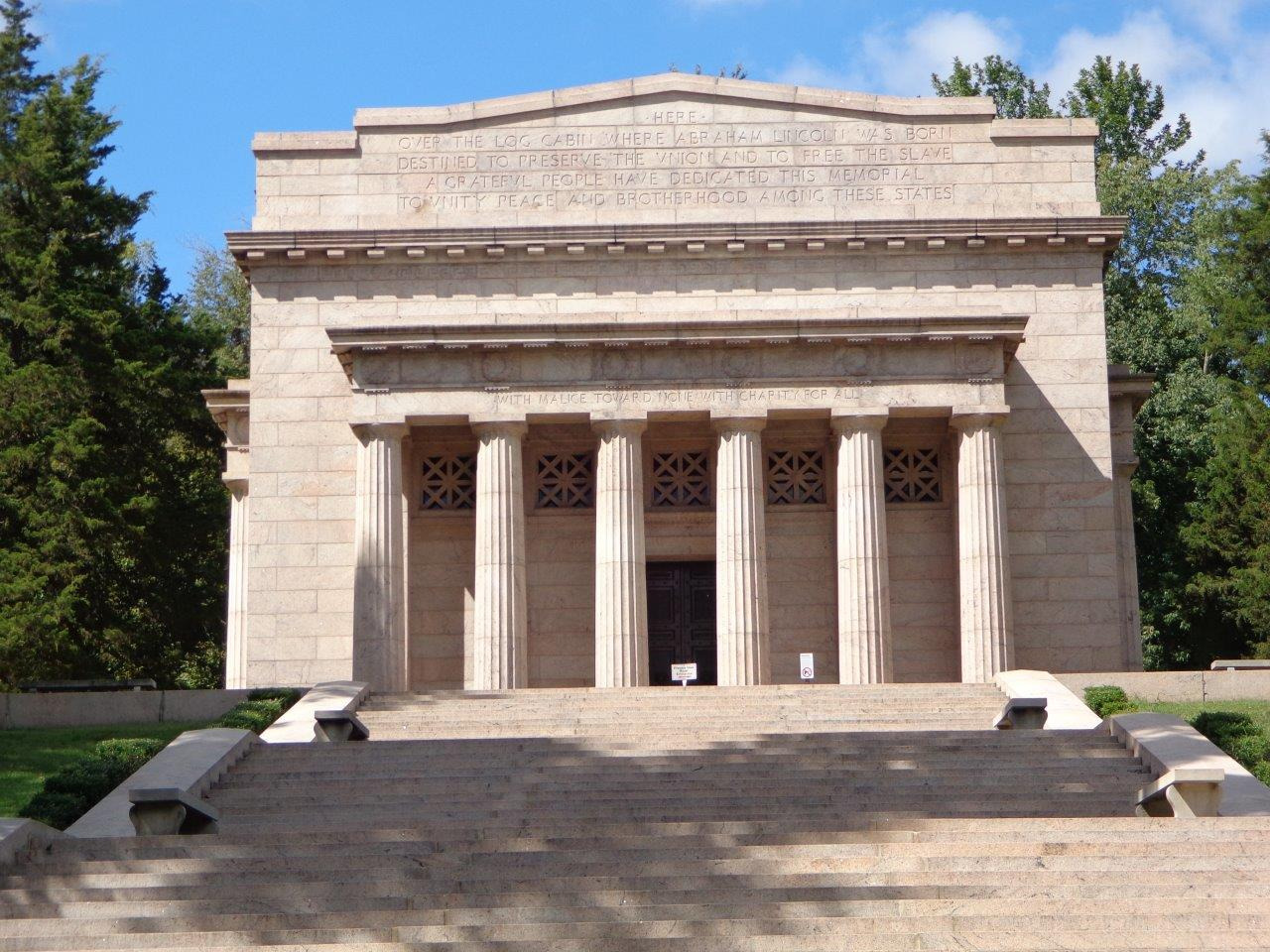 photo of Abraham Lincoln birthplace memorial building