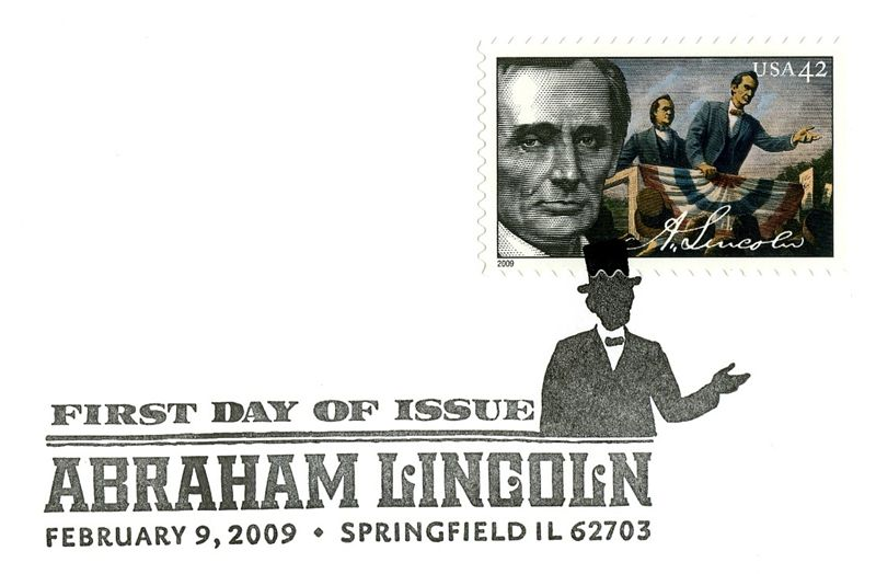 Lincoln Politician Stamp