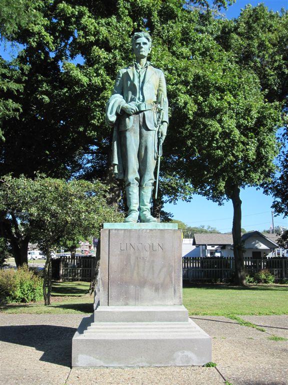 Abraham Lincoln Statue in Dixon, IL