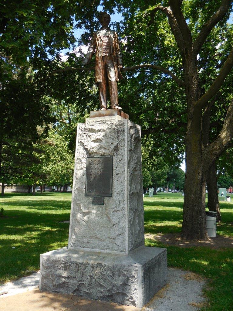 Abraham Lincoln Statue in Fremont, Nebraska