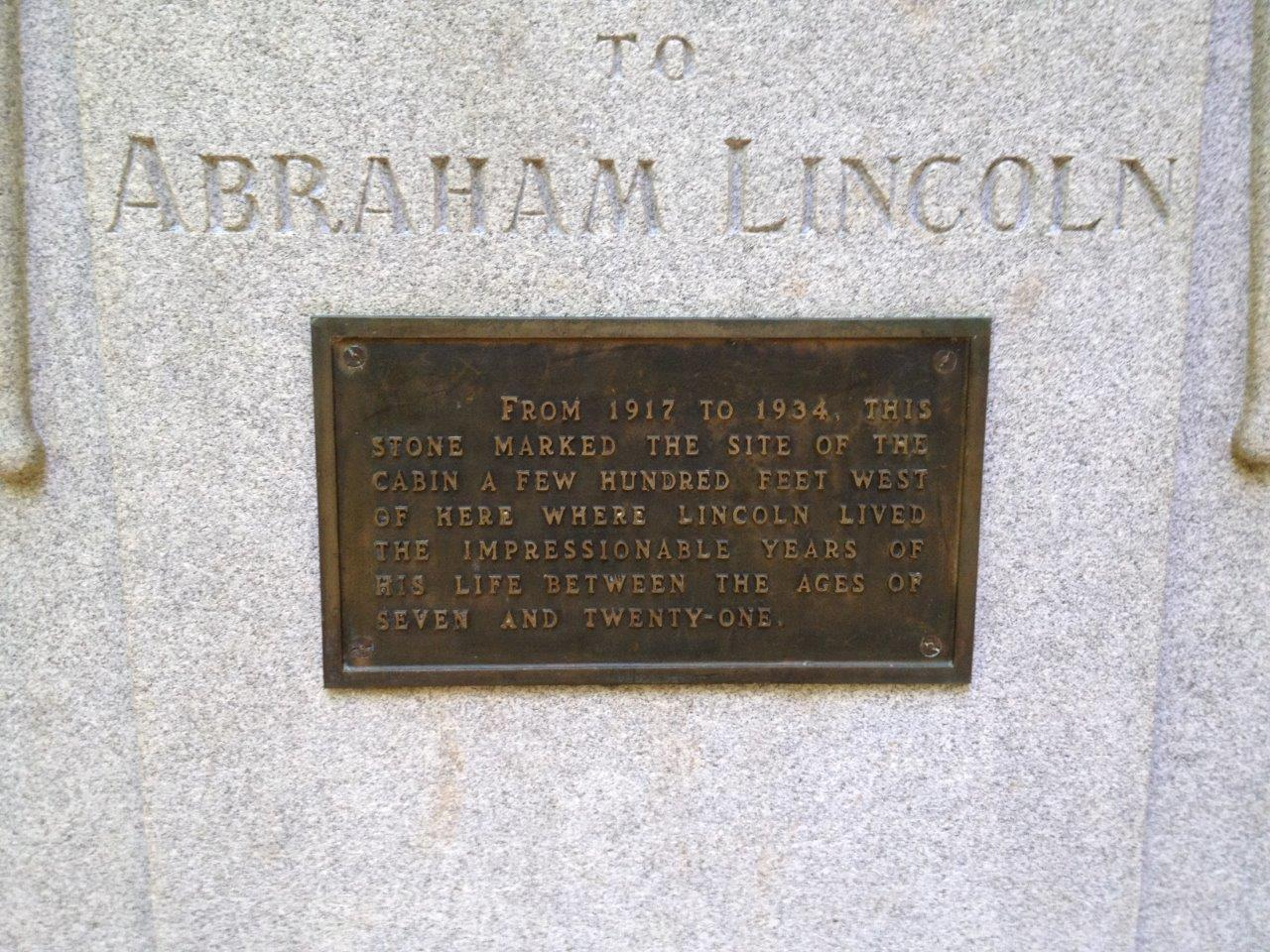Abraham Lincoln boyhood home in Indiana