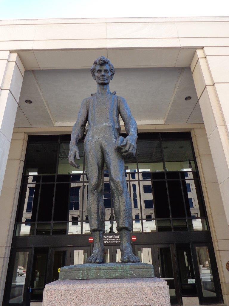 Young Abraham Lincoln statue in Indianapolis