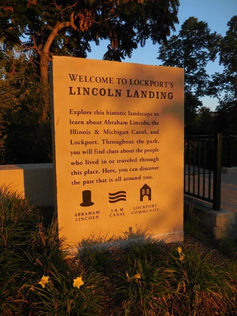 Abraham Lincoln Statue in Lockport, Illinois