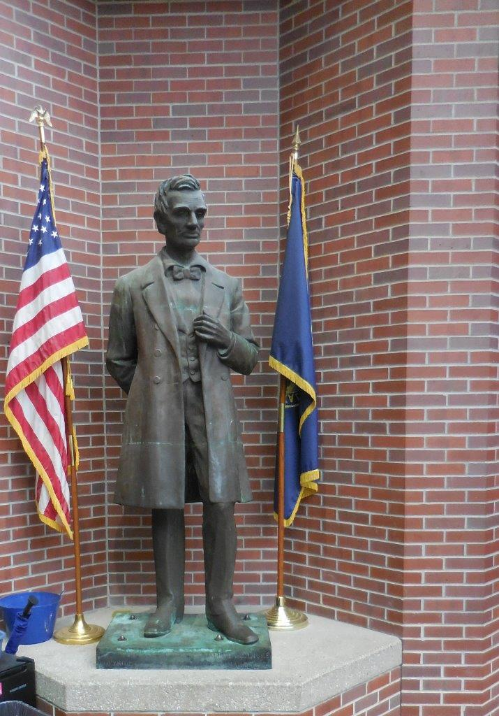 Abraham Lincoln Statue in Omaha, Nebraska