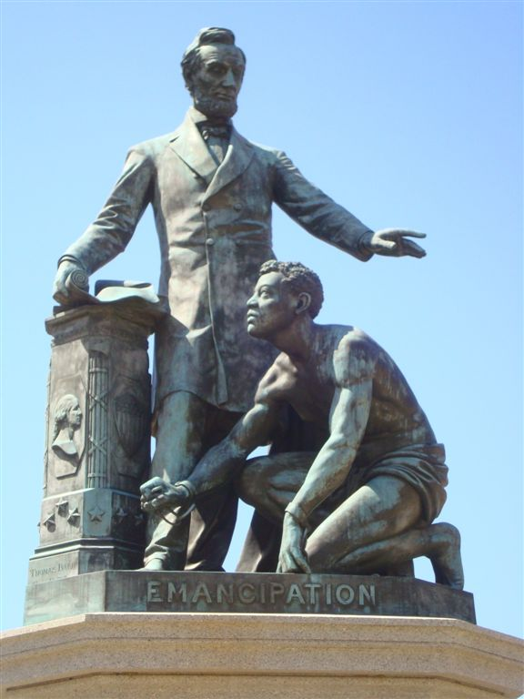 Lincoln Emancipation Monument close up
