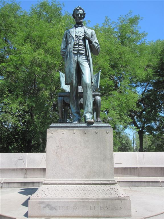 """North Park Lincoln >> Abraham Lincoln Statue - """"Standing Lincoln"""" - Chicago ..."""