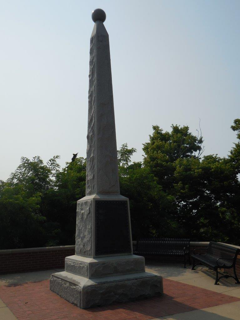 Abraham Lincoln monument marking eastern terminus of Transcontinental railroad