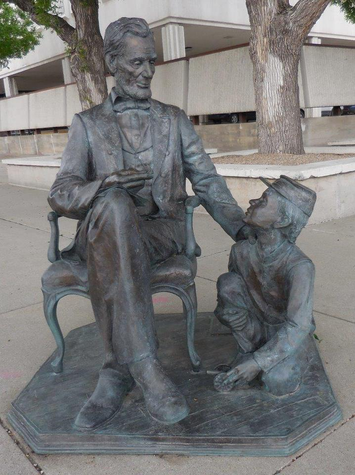 Abraham Lincoln statue in Rapid City, South Dakota