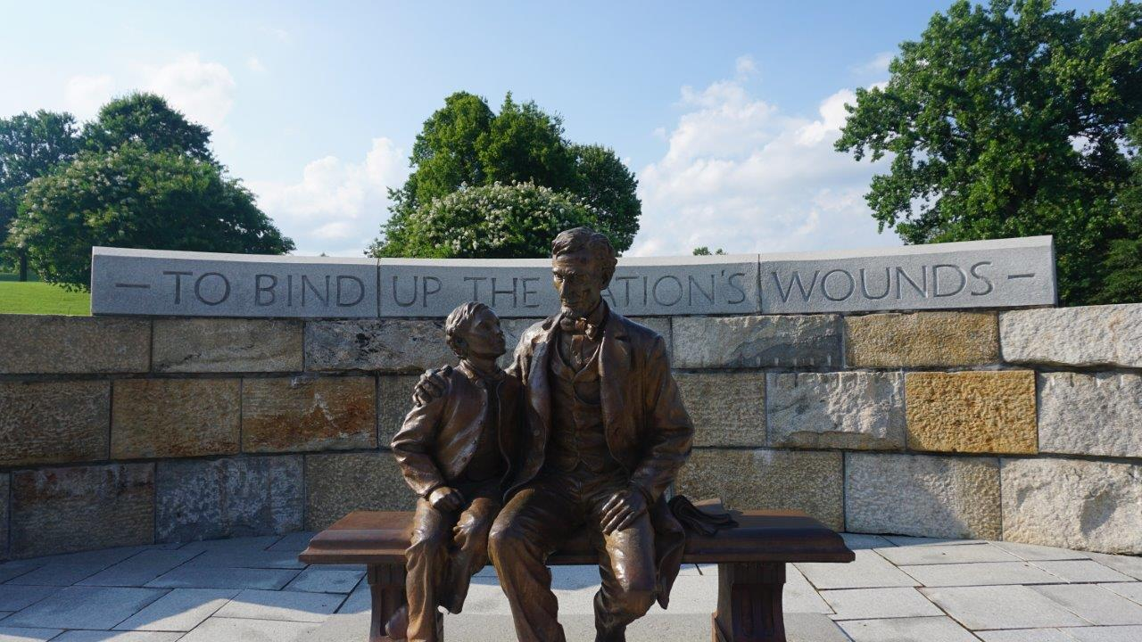 Abraham Lincoln statue in Richmond, Virginia