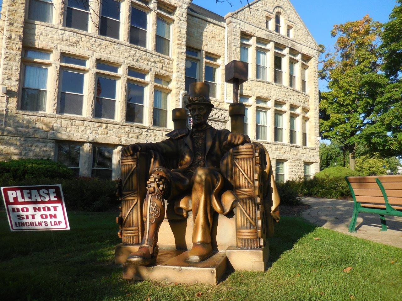 Abraham Lincoln Steampunk Statue in Lockport, Illinois