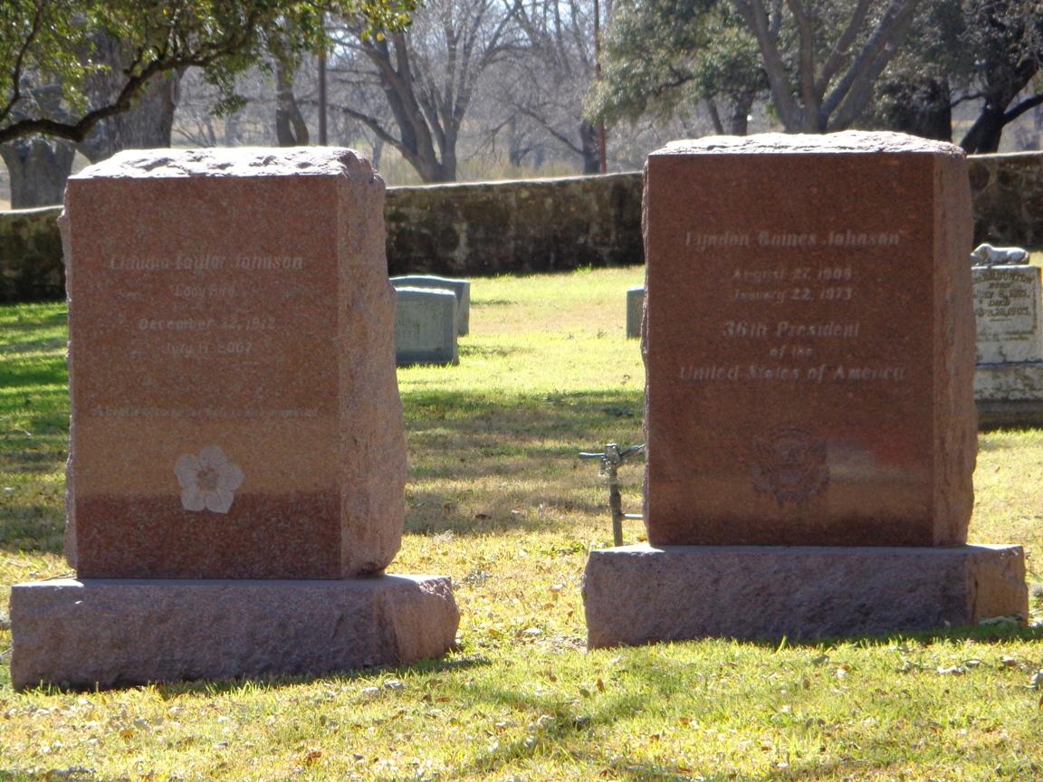 Lyndon Johnson grave stone