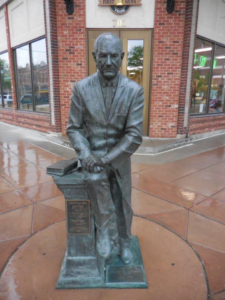 Lyndon Johnson statue in Rapid City, South Dakota