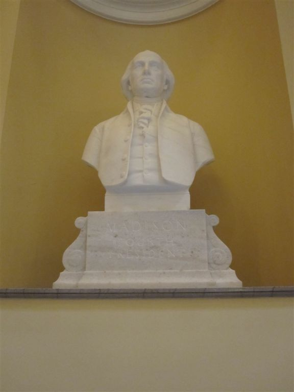 Madison Bust at the Virginia State Capitol