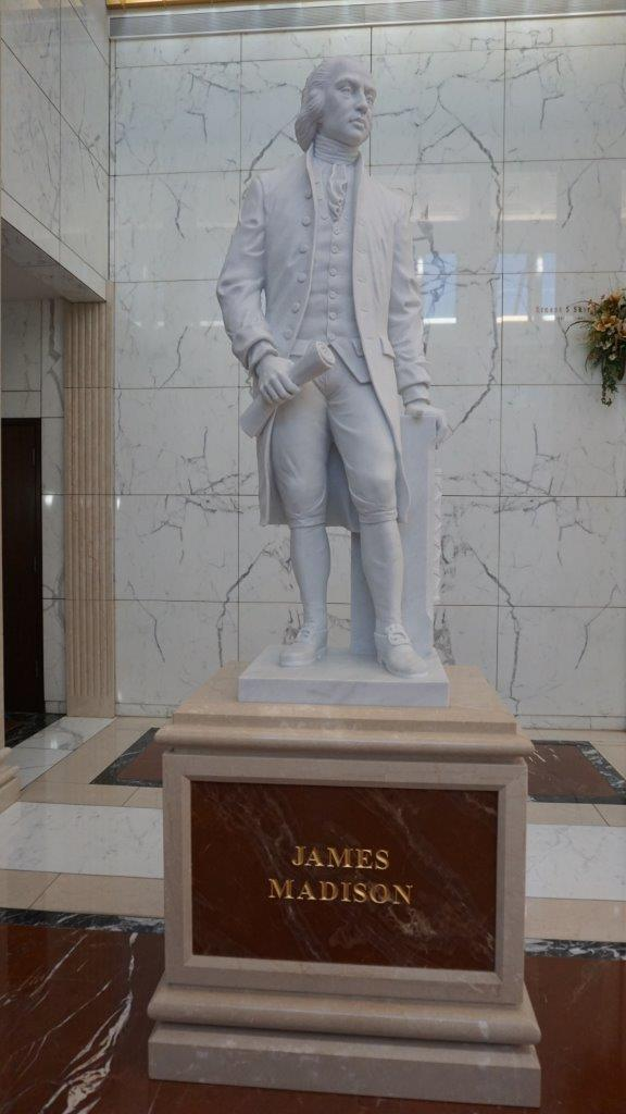 James Madison mausoleum statue in ft worth texas