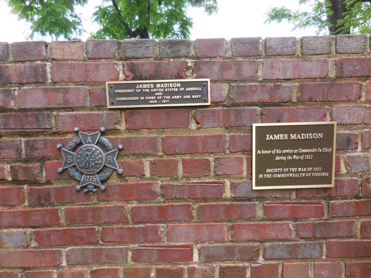 historical markers at James Madison gravesite